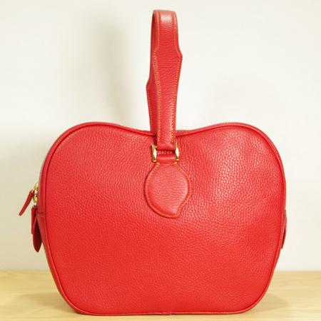 林檎のレザーバッグ:りんごハンドバッグ
