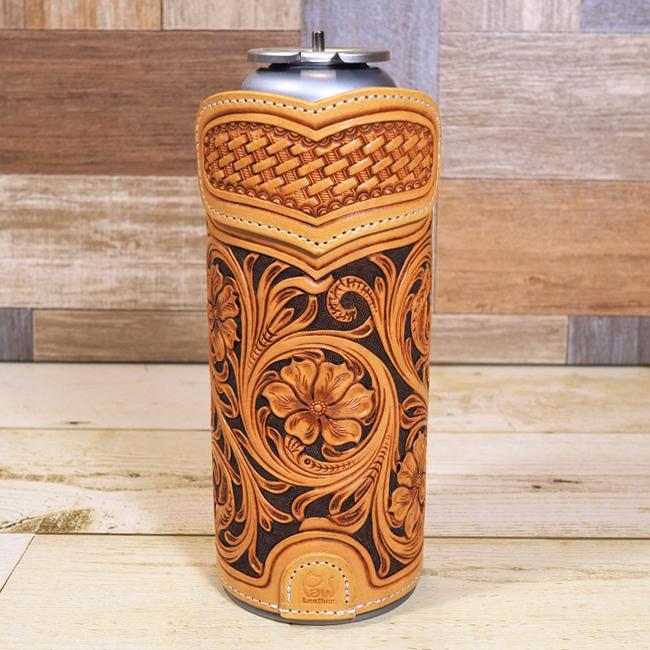 CB缶カバー:レザーカービング