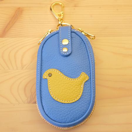 ファスナー式キーケース:小鳥