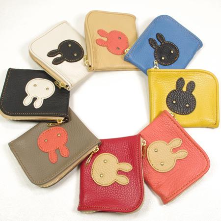 ミニ革財布:うさぎ:小さい財布、革小物