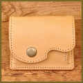 革のコインケース:可愛いハンドメイド革小物:手作り小銭入れ