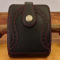 手作り二つ折り革財布:ハーフウォレット