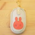 ウサギのキーケース:革小物、うさぎ