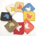 小鳥の革財布:ハンドメイド革製品