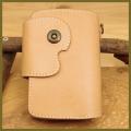 ミドルウォレット:本革・手作り革財布:ハンドメイド・レザーウォレット