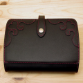 ハートの可愛い革のシステム手帳(バイブルサイズ)手作り革製品