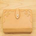 ハートの可愛い革のシステム手帳(ミニ6穴サイズ)革製品