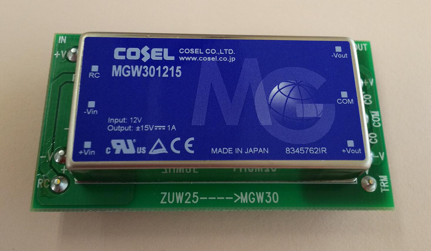 COSEL ZU15,25 MG15,25 アタッチメント基板