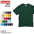 6.2オンス プレミアム Tシャツ 全31色 | XS S M L XL United Athle 5942-01