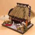 【ドールハウスキット】茅葺きハウスキット 茶店【和風】