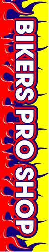 B-H BIKERS PRO SHOP W350mm×H1800mm/自動車販売店向のぼり【メール便可】