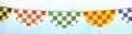 H-10 半円チェッカー旗(14枚付)