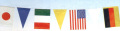 【3個から販売】H-5 万国旗三角入(21枚付)屋内用