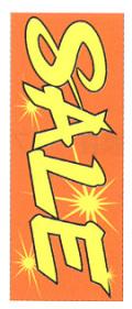 K-4 大のぼり(蛍光のぼり) SALE W700mm×H1800mm/自動車販売店向のぼり【メール便可】