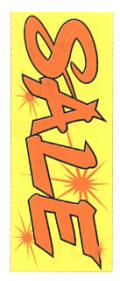 K-5 大のぼり(蛍光のぼり) SALE W700mm×H1800mm/自動車販売店向のぼり【メール便可】