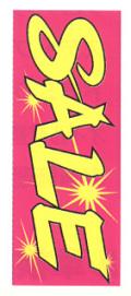 K-6 大のぼり(蛍光のぼり) SALE W700mm×H1800mm/自動車販売店向のぼり【メール便可】