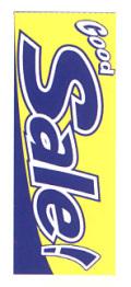 K-8 大のぼり GoodSale(青) W700mm×H1800mm/自動車販売店向のぼり【メール便可】