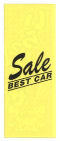 KT-13 特大のぼり(蛍光のぼり) Sale BEST CAR W900mm×H2700mm/自動車販売店向のぼり【メール便可】