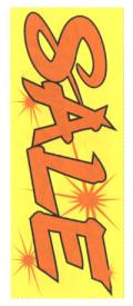 KT-16 特大のぼり(蛍光のぼり) SALE W900mm×H2700mm/自動車販売店向のぼり【メール便可】