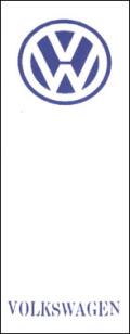 OR-6  外車用のぼり VOLKSWARGEN W700mm×H1800mm/自動車販売店向のぼり【メール便可】