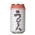 T5750 うどん 24×31cm 缶型提灯(和紙)【ちょうちん】
