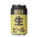 T5753 生ビール 24×31cm 缶型提灯(和紙)【ちょうちん】