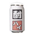 T5758 酎ハイ  24×31cm 缶型提灯(和紙)【ちょうちん】