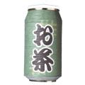 T5760 お茶 24×31cm 缶型提灯(和紙)【ちょうちん】