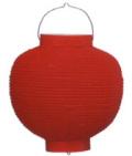 Z2901 9号丸洋紙提灯 赤・赤枠25×35cm【ちょうちん】