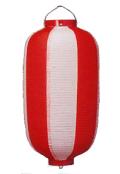 新K 12号長型提灯 赤白34×70cm ビニール【ちょうちん】