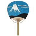 唐月竹うちわ「富士山」 50本セット | F3057 団扇 おしゃれ 天然素材