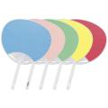 平柄ポリうちわ 5色(青/ピンク/緑/黄/赤) 50本セット | F3081_5 標準サイズうちわ 団扇