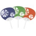 平柄ポリうちわ 絞り三色(紺/緑/朱) 50本セット | F3086_8 標準サイズうちわ 団扇