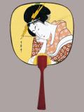 F54 筆美人(花扇)・豆うちわ/50本入 中型・豆うちわ