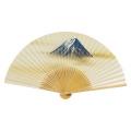 F5702 白竹中彫 富士【紳士用扇子】