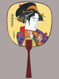 F58 かんざし美人(娘道成寺)・豆うちわ/50本入 中型・豆うちわ
