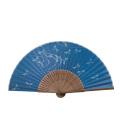 F5936 唐木中彫 トンボ【彩り和紙扇子】
