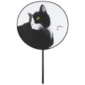 ロマンスファン「Hachiware(ハチワレ)(村上ゆたか)」 25本セット | F6001 団扇 まんまるうちわ 猫 ねこ