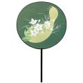 ロマンスファン「ひょうたんに桔梗」 25本セット | F6010 団扇 まんまるうちわ