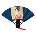 F602 版画扇 歌麿ビードロ(ポッピン)【飾り扇子】