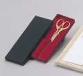 S82-21 テープカットハサミ・並 全長18.5cm 刃渡り8.9cm【選挙・イベント・式典】