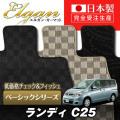 SU0053【スズキ】ランディ 専用フロアマット [年式:H19.01-22.12] [型式:C25]8人乗車 (ベーシックシリーズ)