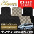 SU0055【スズキ】ランディ 専用フロアマット [年式:H24.08-] [型式:SC26,SNC26,SHC26]8人乗車 (ベーシックシリーズ)