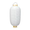 葬儀用(使い切りタイプ) 12号長 白 提灯 | m112(T618) 32×70cm 柾輪 葬祭用 ちょうちん