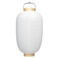 葬儀用(使い切りタイプ) 14号長 白 提灯 | m114(T603) 42×80cm 柾輪 葬祭用 ちょうちん
