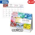 200部 1色名入れ 2021年 卓上カレンダー 季節の植物 (NZ-702)