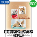 B3ラブリーフレンズ(犬・猫)【1000部】/壁掛けカレンダー名入れ(NZ-012)