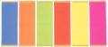 ポップ用蛍光紙 ポスターカラー(小)50枚入/1〜29セット