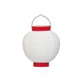 Ty206-9 6号丸洋紙提灯 白/赤枠 Φ17×H24cm | 店舗向け提灯 ちょうちん (T2600)