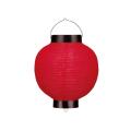 Ty208-6 8号丸洋紙提灯 赤/黒枠 Φ20.5×H29cm | 店舗向け提灯 ちょうちん (T2810)